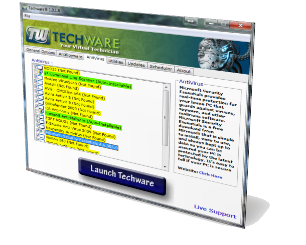 Techware screenshot Antivirus